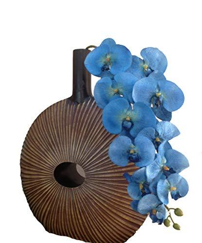 paradieseinkauf - Ramo di orchidea, in seta, 106 cm, colore blu