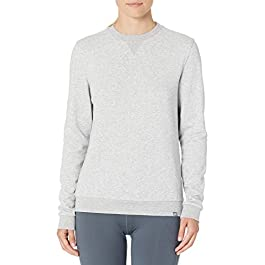 CARE OF by PUMA Women's Long Sleeve Terry Crew Neck Sweatshirt