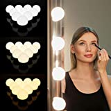 Vanity Mirror Lights Kit, DIY Hollywood Style Makeup Light, 10 LED Bulbs Mirror Lighting with Dimmer and Charger, for Bathroom Dressing Room Salon, Mirror Ordering Separately