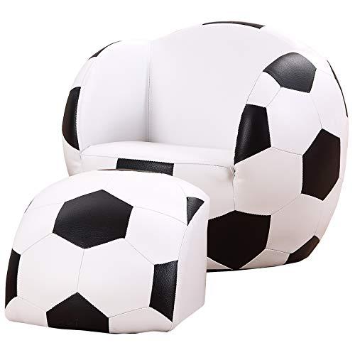 Homcom Kindersofa Kindersessel Sofa Couch Kinder Stuhl Kinderzimmer Softsofa Doppelsofa Einzelsofa Neu (Fußballsofa)