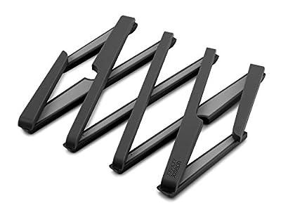 Diseño expandible para sartenes adicionales o tazones grandes Resistente al calor hasta 220 ° C / 428 ° F Plegable para almacenamiento compacto Antideslizante y resistente a los arañazos.
