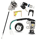 Ignition Switch Key Lock Gas Tank Cap Set Compatible with GY6 49cc 50cc Scooter Moped TaoTao Peace Roketa Jonway NST...