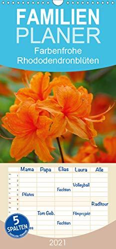 Farbenfrohe Rhododendronblüten - Familienplaner hoch (Wandkalender 2021, 21 cm x 45 cm, hoch)