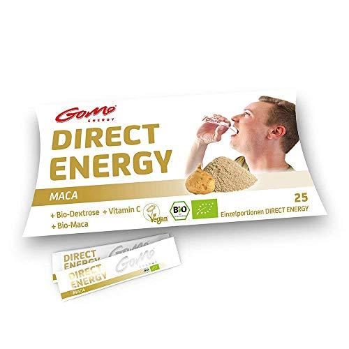 GoMo ENERGY® Polvo de vitalidad rápida │ Potente refuerzo para la energía del cuerpo, la mente y la libido | + La vitamina C para apoyar el sistema inmunológico | DIRECT MACA 25 porciones