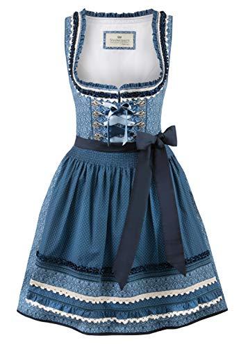 Stockerpoint Damen Dirndl Angelica Kleid für besondere Anlässe, blau, 38