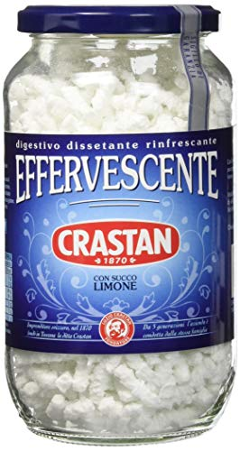 Crastan Preparato granulare per bevanda effervescente, con succo Limone - 12 vasetti da 250g [tot. 3kg]