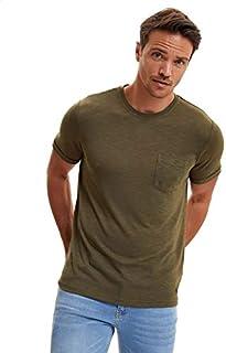 DeFacto Basic Chest Pocket Round Neck Short Sleeves T-Shirt for Men