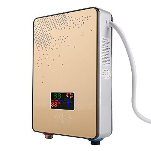 Mini calentador de agua caliente, 220 V, 6500 W, sin depósito, calentador de agua eléctrico instantáneo con control de temperatura constante, ducha para el hogar o el baño