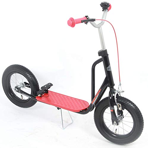 E&L Cycles Kinder Scooter Tretroller Volare 12 Zoll schwarz-rot mit Bremse