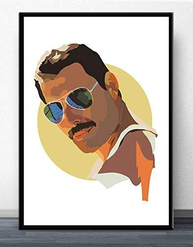 ganlanshu Wohnzimmer böhmischen heißen Stern Poster Dekoration Poster Home Decoration Vintage Malerei Wandbild,Rahmenlose Malerei-30X45cm