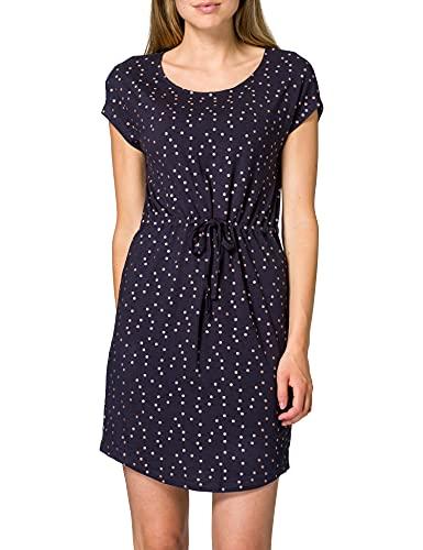 Only ONLMANYA S/S Dress JRS Robe, Night Sky/AOP : Feuille d'or Rose, S Femme