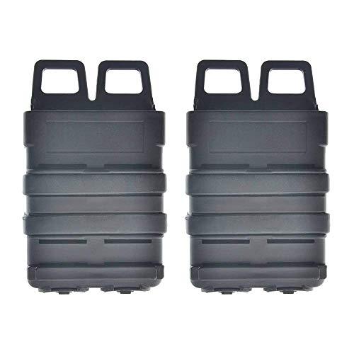JDSMT Tactical Magazine Pouch Bag Holster 5.56 Fast Mag for M4 M16 AR15(2 Pack Black)