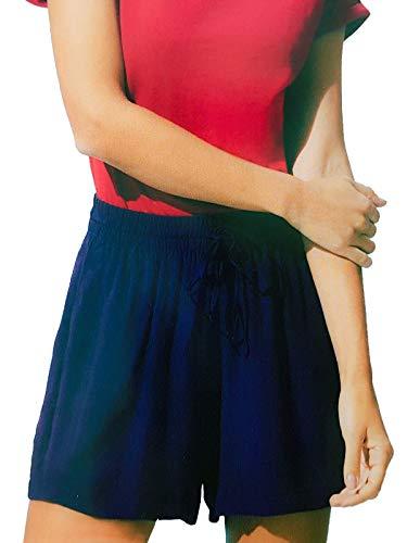Up2Fashion Damenshorts Viskose Shorts Bermuda Kurze Hose blau, Größe: L