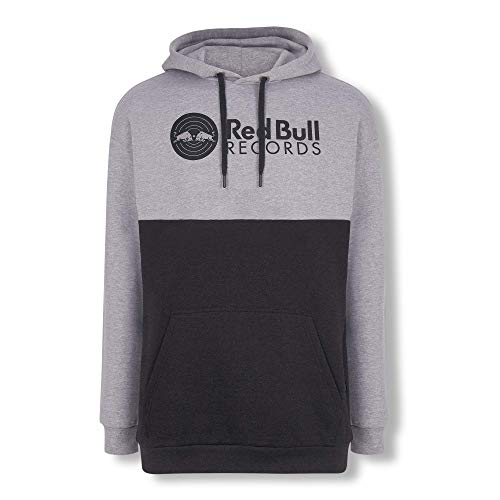 Red Bull Records Vinyl Sudadera con Capucha, Gris Unisexo X-Small Hoodie, Records Original Ropa & Accesorios
