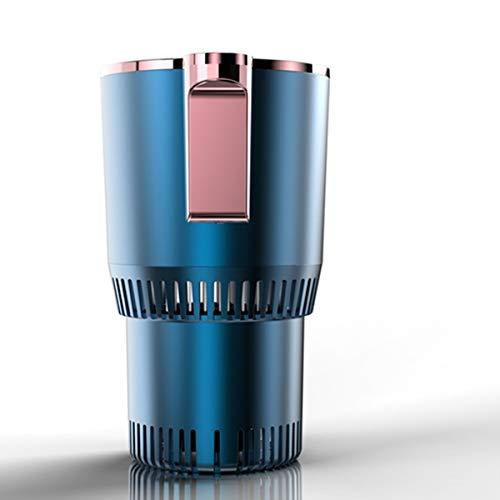 カップクーラー -9〜58℃ 保温・保冷 ミニ冷蔵庫 40dB 12V車専用 ドリンククーラー 冷凍カップ 缶クーラー 車載用 ボトルウォーマーおよび冷却、デジタルディスプレイ付き (ブルー)