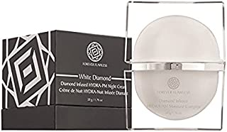 Forever Flawless HYDRA-PM Night Cream - Infused with Vitamins and 100% Natural Diamond Powder - Anti-Aging Anti-Wrinkle Face Cream for Men and Women - White Diamond Collection FF15, (1.76 oz)