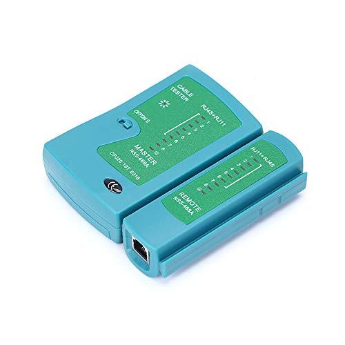 Fesjoy Probador de Cable de Red RJ45 RJ11, Probador de Cable de Red Profesional RJ45 RJ11 Detector de Red LAN Rastreador Herramienta de Prueba de Red (batería no incluida)