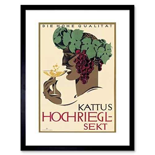 Ad Kattus Hochriegl-sekt Wijn Alcohol Wenen Oostenrijk Omlijst Muur Art Print