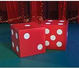 Shindigz Giant Red Dice Vegas Casino Decoration Photo Booth Prop Background Backdrop Party Decoration Scene Setter