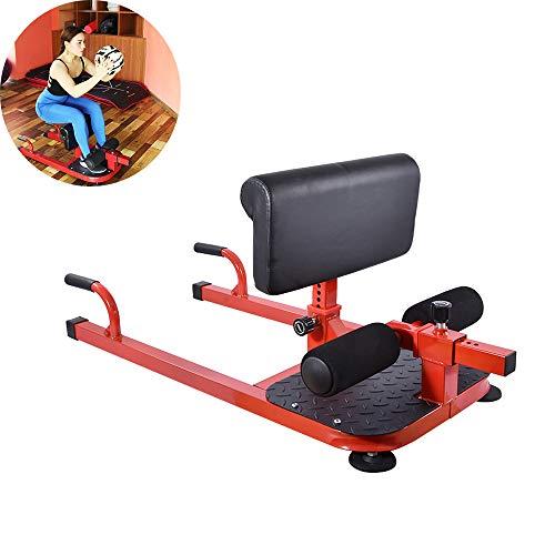 YUSDP Máquina para Sentadillas 3 en 1 - Ajuste de Cojines de 6 Niveles - Tubería de Acero Engrosada - con Soporte de Empuje para Ejercicios Abdominales Gimnasio en casa - Uso Comercial