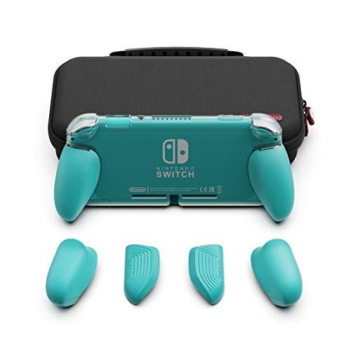 Skull & Co. GripCase Lite Bundle für Nintendo Switch Lite Türkisfarbenes Bündel GripCase Lite + MaxCarry Case Lite Bundle