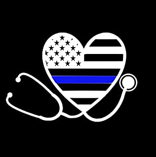 Nurse Thin Blue Line Car Decal