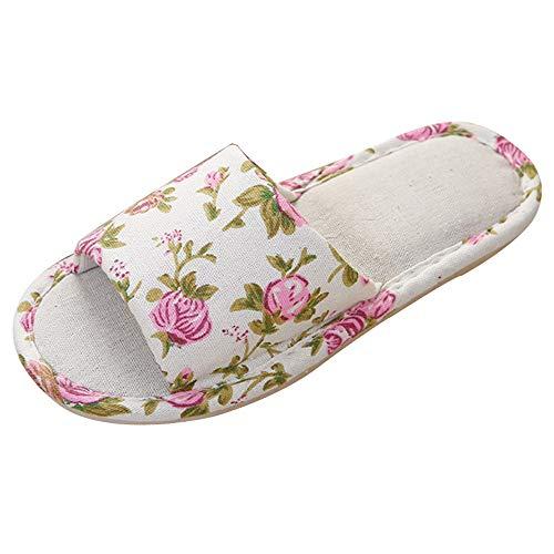 Clogs Hausschuhe Badeschuhe Zehentrenner Pantoletten Sandalen Trekking Sandalen Bade Sandalen Flops Offroad Sneaker Erholungsschuhe Pantoffeln (38,Beige)