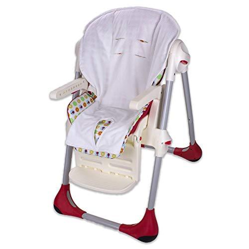 Babysanity rivestimento copri seggiolone pappa universale in morbida spugna di cotone colore Bianco