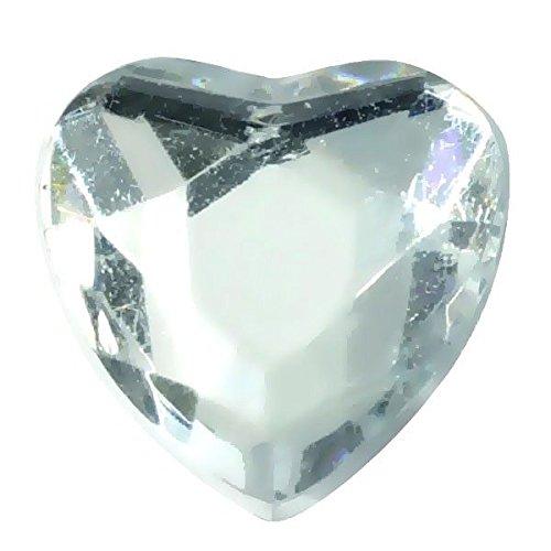 SANTEX 3349-4, Sachet de 12 petits coeur diamant, transparent