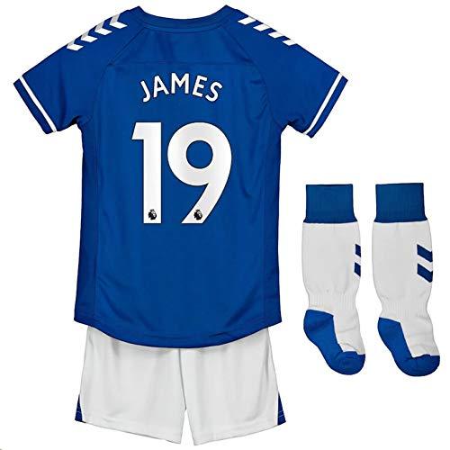Fimng 2020-2021 Kids/Youths Home Soccer Jersey/Short/Socks Colour Blue (Everton J.Rodríguez #19(10-11years/size26))