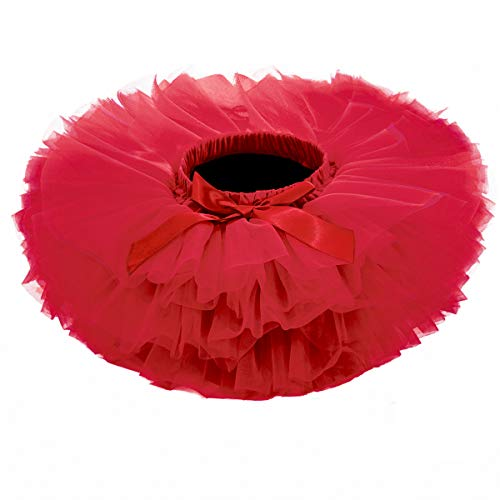 Baby Girls Tutu Skirt, Infant Tulle Tutus, Newborn Soft Skirts for Toddlers Red