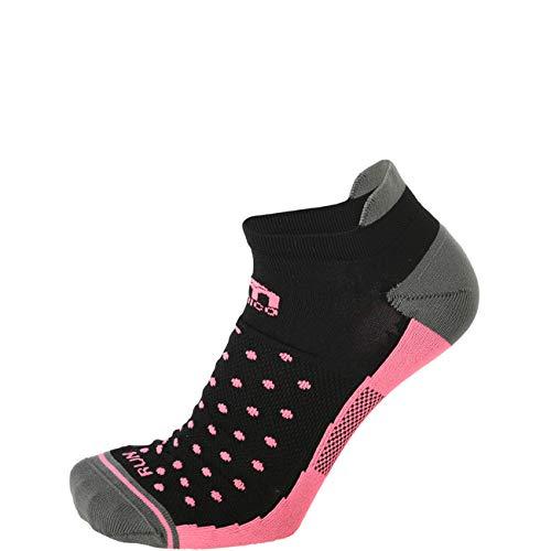 Mico – Chaussettes pour femme pour la course basse extra légères – Noir rose S Nero Rosa - 159