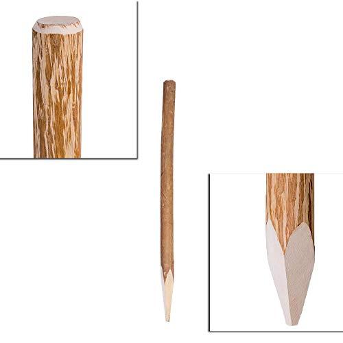 H4L Zaunpfosten Haselnuss 105 cm Holzpfosten Pfosten Staketen Zaun Pfahl Stakete Rollzaun