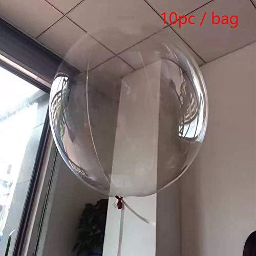 SparY Bobo Luftballons, 10 STK 18 Zoll Transparent Riesiges Latex Ballon Rund Bubble Luftballons für Geburtstag Hochzeitsparty Festival Carn Testival Dekorationen - 10 STK, Free Size
