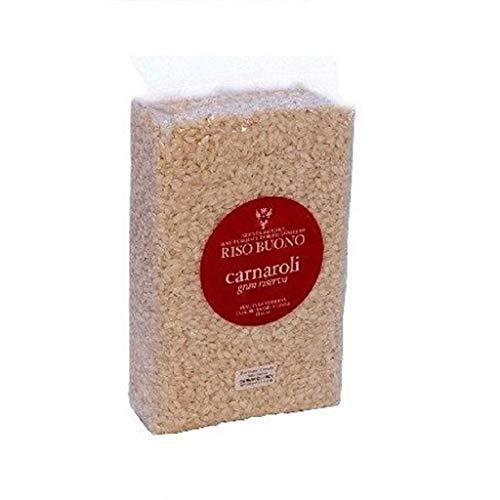 Riso Buono- Arroz Carnaroli - Clasico - Gran Reserva - Ideal paraun Risotto Excelente- Producto 100 % Italiano- 1 Kilogramo