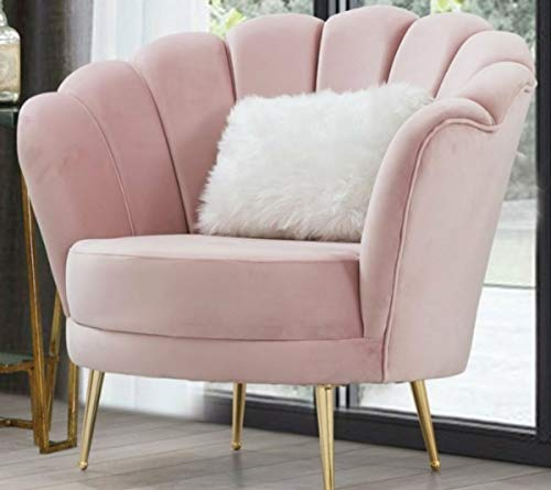 Casa Padrino sillón de salón de diseño Art Deco Rosa/Oro 85 x 55 x A. 85 cm - Muebles de Salón Art Deco