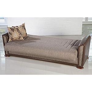 ISTIKBAL Multifunctional Furniture Living Room SOFA SLEEPER Redeyef Brown ALFA Collection