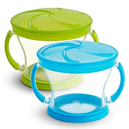 Spill proof toddler snack container with soft flaps for easy food access Fits most standard cup holders in cars, car seats, strollers, etc Great for home, daycare or on the go use; Holds up to 9 ounces of snacks BPA free, top rack dishwasher safe, 12...