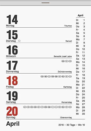 Abreißkalender Tagesblock  Gr.1 4 x 6 cm Kalender 2020