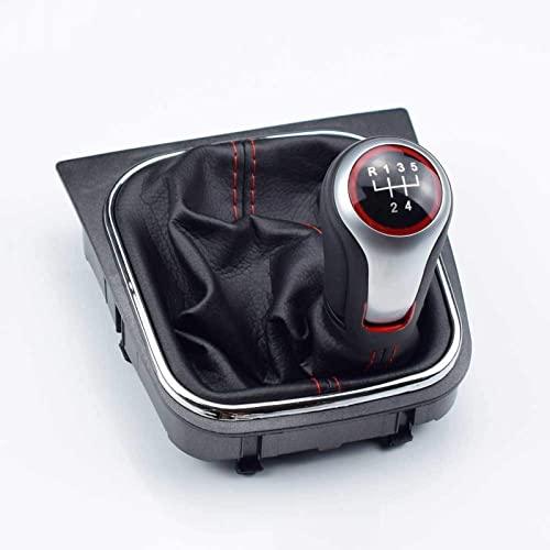 JINMEI Accesorios De Palanca De Cambios para Vehículos De Motor Pomo De Cambio De Marchas para Pasador De Palanca De Cambios 5 Mango De 6 Velocidades Cubierta De Campana De Bola , para VW Volkswa