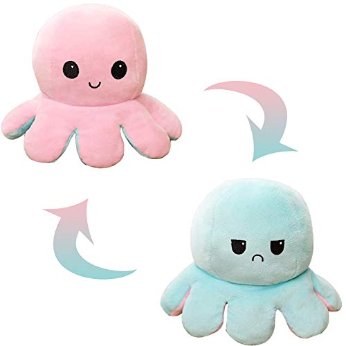Reversible Octopus Soft Toys for 0-3 3-6 6-9 6-18 Months 1-10 Year Old Boys...