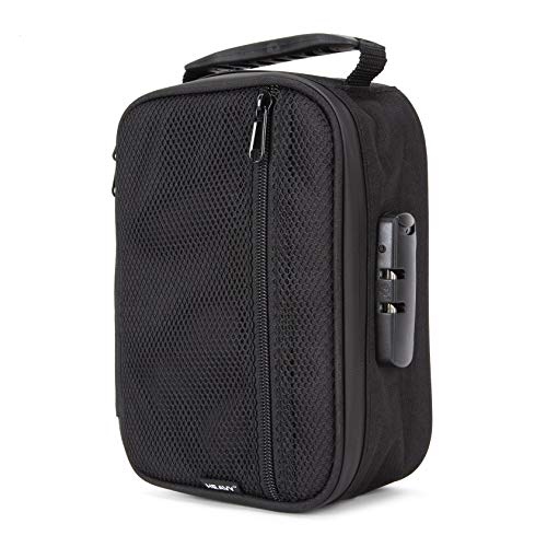 Heavy XL Safe Lock Bag - Ultra Smell Proof Activated Carbon Lined Zip Lock Storage/Travel Bag With Combination Lock