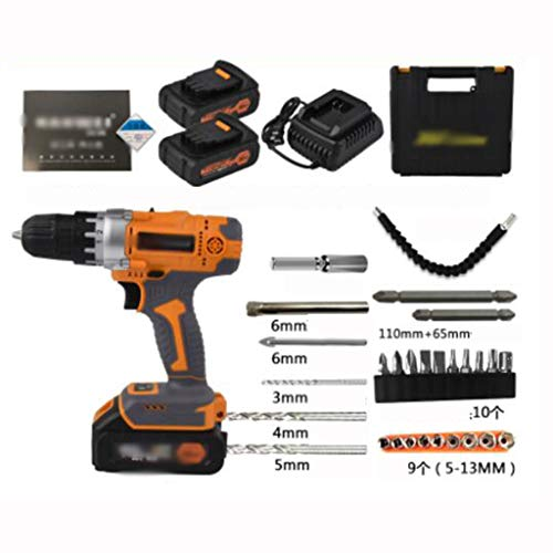 Great Features Of 36V F Charging Drill Industrial Grade Hand Drill Pistol Drill Electric Screwdriver...