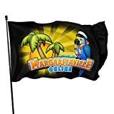 N/D Jimmy Buffett - Margaritaville Flag,3x5 Foot Vivid Color and Uv Fade Resistant-Canvas Header and Double Stitched.Quality Polyester Very Durable.