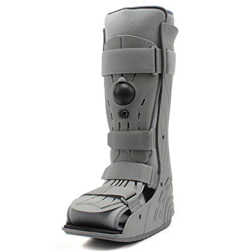 SXFYGYQ Órtesis de Tobillo Cómodo para fracturas del pie Abrazadera de fijación Tibial Ajustable para Caminantes de pie Izquierdo y Derecho