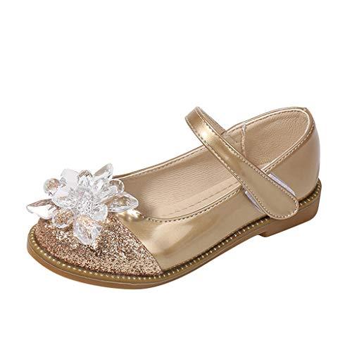 Cuteelf Kinder Kleinkind Schuhe Infant Baby Mädchen Kristall Leder Einzelne Schuhe Party Prinzessin Schuhe Single Casual Sneaker Silber Gold Rosa Mädchen Prinzessin Schuhe