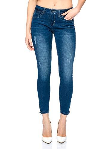 ONLY Onlkendell Reg Sk Ank Jeans Cre500 Noos, Mujer, Azul (Dark Blue Denim), W25/L32 (Talla del...