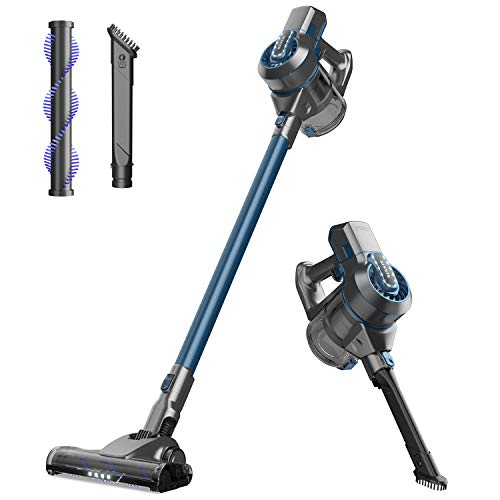 Cordless Vacuum Cleaner, NOVETE 13000Pa 2 in 1 Stick Vacuum with Rechargeable Li-Ion Battery, 40mins Run Time in Standard mode Lightweight Bagless Upright Vacuum Cordless For Carpet/Floor/Pet/Hair/Car