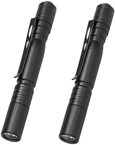 2Pcs LED Pocket 1200 Lumen Pen Light Flashlight with Clip