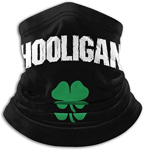 Braga Cuello Moto Calentador de Cuello Deporte Calentador Pasamontañas Polar Multifuncional Máscara Irish Hooligan Neck Warmer Microfiber Headwear Face Scarf for Winter Cold Weather Keep Warm U